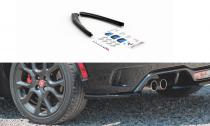 Maxton Design Boční lišty zadního nárazníku Fiat 124 Spider Abarth - texturovaný plast