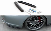 Maxton Design Boční lišty zadního nárazníku Porsche 911 Carrera (991.1) - černý lesklý lak