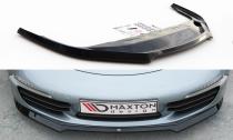 Maxton Design Spoiler předního nárazníku Porsche 911 Carrera (991.1) V.1 - černý lesklý lak