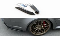 Maxton Design Boční lišty zadního nárazníku Audi RS4 (B7) Sedan V.2 - texturovaný plast