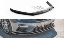 Maxton Design Spoiler předního nárazníku Seat Leon (5F) Cupra Facelift V.6 - texturovaný plast