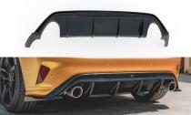 Maxton Design Spoiler zadního nárazníku Ford Focus ST Mk4 V.3 - černý lesklý lak