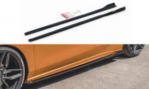 Maxton Design Prahové lišty Ford Focus ST Mk4 V.4 - černý lesklý lak
