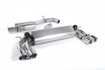 Klapkový catback výfuk VW Golf 7 R 2,0 TSI Milltek Sport - s rezonátorem / kulaté leštěné koncovky