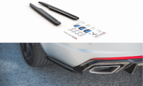 Maxton Design Boční lišty zadního nárazníku Škoda Octavia III RS Liftback/Combi V.2 - texturovaný plast