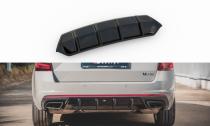 Maxton Design Spoiler zadního nárazníku Škoda Octavia III RS Liftback/Combi V.1 - texturovaný plast