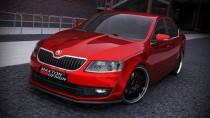 Maxton Design Spoiler předního nárazníku Škoda Octavia III V.1 - texturovaný plast