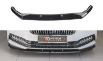 Maxton Design Spoiler předního nárazníku Škoda Superb III Facelift V.2 - černý lesklý lak