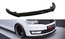 Maxton Design Spoiler předního nárazníku Škoda Rapid V.1 - černý lesklý lak