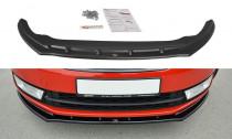 Maxton Design Spoiler předního nárazníku Škoda Rapid V.2 - černý lesklý lak