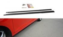 Maxton Design Prahové lišty Škoda Rapid - černý lesklý lak