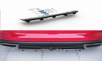Maxton Design Lišta zadního nárazníku s žebrováním Škoda Kodiaq RS - černý lesklý lak