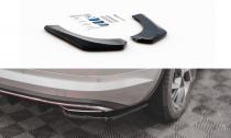 Maxton Design Boční lišty zadního nárazníku Škoda Kodiaq Sportline - černý lesklý lak