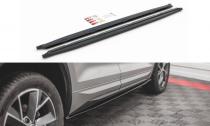 Maxton Design Prahové lišty Škoda Kodiaq Sportline/RS - černý lesklý lak
