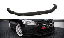 Maxton Design Spoiler předního nárazníku Škoda Fabia II Facelift - texturovaný plast