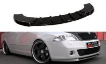 Maxton Design Spoiler předního nárazníku Škoda Octavia II RS - texturovaný plast