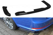 Maxton Design Lišty zadního nárazníku Škoda Octavia II RS - texturovaný plast
