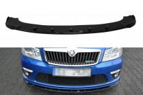 Maxton Design Spoiler předního nárazníku Škoda Octavia II RS Facelift V.1 - texturovaný plast
