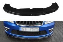 Maxton Design Spoiler předního nárazníku Škoda Octavia II RS Facelift V.2 - texturovaný plast