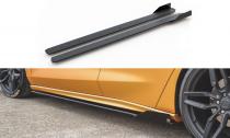 Maxton Design Zesílené prahové lišty Racing s křidélky Ford Focus Mk4 ST - lesklá červeno-černá