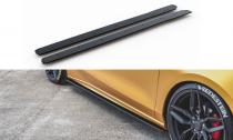 Maxton Design Zesílené prahové lišty Racing Ford Focus Mk4 ST - červeno-černá
