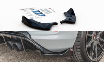 Maxton Design Boční lišty zadního nárazníku Ford Fiesta Mk8 ST - černý lesklý lak