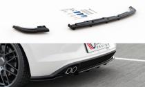 Maxton Design Spoiler zadního nárazníku s žebrováním VW Polo Mk6 GTI - texturovaný plast