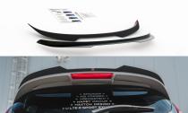 Maxton Design Nástavec střešního spoileru Ford Fiesta ST Mk7 Black and White Edition - texturovaný plast