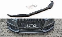 Maxton Design Spoiler předního nárazníku Audi S6 (C7) / A6 S-Line (C7) Facelift - texturovaný plast