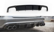 Maxton Design Spoiler zadního nárazníku Audi S6 (C7) / A6 S-Line (C7) Facelift - texturovaný plast
