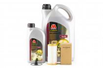 Servisní set motorového oleje Millers Oils 5w30 a originálního olejového filtru pro 1,8 & 2.0 TSI 162/169kW