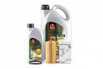 Základní servisní set pro motor 2,0 TFSI EA113 Olej Millers Oils EE Longlife Nanodrive 5w40 VW 502 00 a Originální olejový filtr