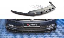Maxton Design Spoiler předního nárazníku VW Passat B8 V.1 - texturovaný plast