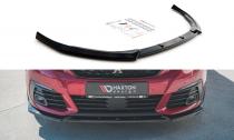 Maxton Design Spoiler předního nárazníku Peugeot 308 GT Mk2 Facelift V.1 - texturovaný plast