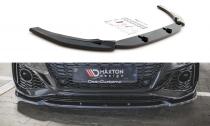 Maxton Design Spoiler předního nárazníku Audi RS5 (F5) Facelift V.2- texturovaný plast