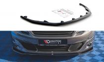 Maxton Design Spoiler předního nárazníku Peugeot 308 Mk2 Facelift V.1 - texturovaný plast