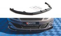 Maxton Design Spoiler předního nárazníku Peugeot 308 Mk2 Facelift V.2 - texturovaný plast