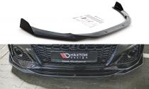 Maxton Design Spoiler předního nárazníku s křidélky Audi RS5 (F5) Facelift V.1 - texturovaný plast