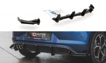 Maxton Design Zesílený spoiler zadního nárazníku s křidélky VW Polo Mk6 GTI - černý + matná křidélka