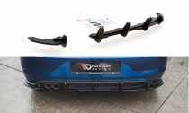 Maxton Design Zesílený spoiler zadního nárazníku Racing VW Polo Mk6 GTI - černý