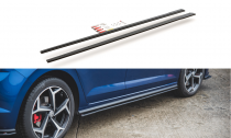 Maxton Design Zesílené prahové lišty Racing VW Polo Mk6 GTI - černé