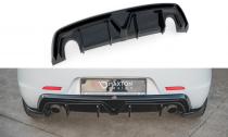 Maxton Design Spoiler zadního nárazníku (2 koncovky) Alfa Romeo Giulietta Facelift - texturovaný plast