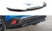 Maxton Design Spoiler zadního nárazníku s žebrováním Peugeot 2008 Mk2 - texturovaný plast