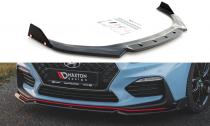 Maxton Design Spoiler předního nárazníku Hyundai I30N V.6 - texturovaný plast