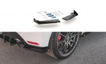 Maxton Design Zesílené boční lišty zadního nárazníku Racing s křidélky Toyota GR Yaris Mk4 - černá