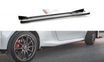 Maxton Design Zesílené prahové lišty Racing s křidélky Toyota GR Yaris Mk4 - černá