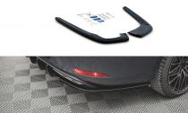 Maxton Design Boční lišty zadního nárazníku Seat Leon FR ST Mk4 - texturovaný plast