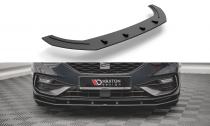 Maxton Design Spoiler předního nárazníku Street Pro Seat Leon FR Mk4 - černá
