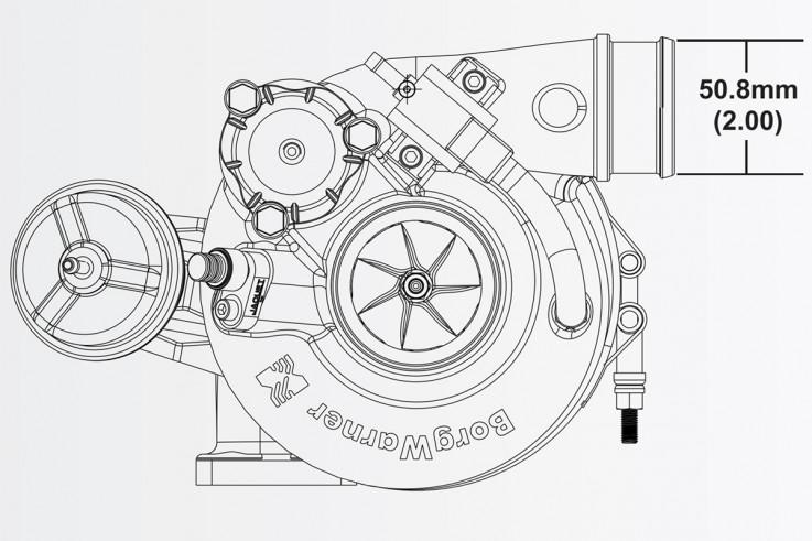 Turbodmychadlo BorgWarner EFR 6758 AL T25 SingleScroll 0.64 s WG