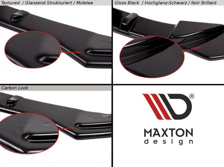 Maxton Design Boční lišty zadního nárazníku VW Golf Mk7 R Facelift Combi V.2 - texturovaný plast